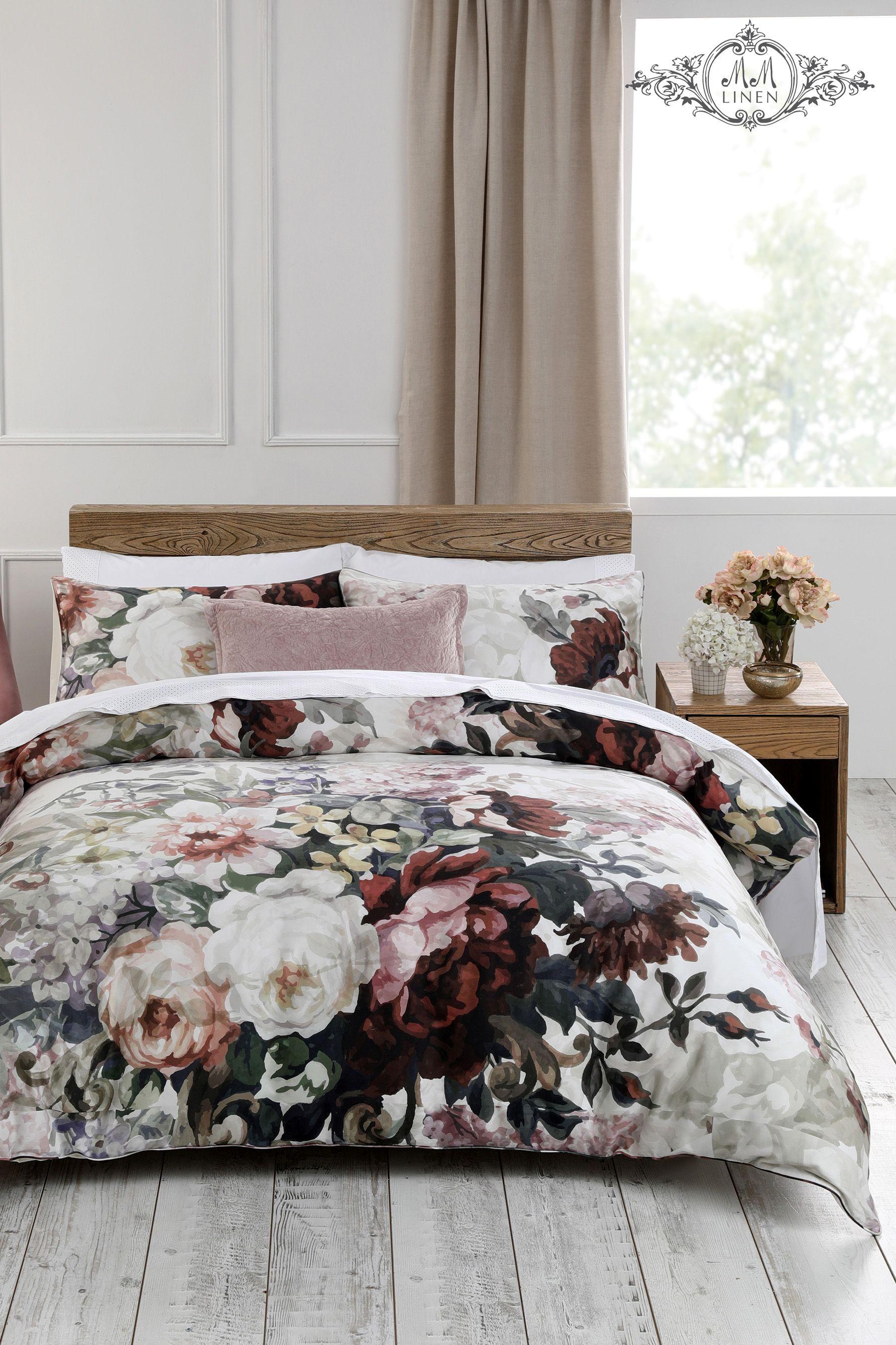 Mm Linen Lizzi Floral Cotton Duvet Cover And Pillowcase Set Bed