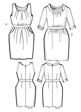 Klänning Jackie 2H10, 36 46 | Mönster klänning, Tunikor och