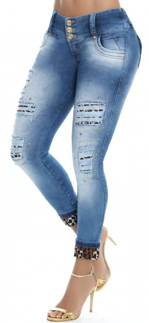 Jeans Levanta Cola Wow 86299 Jeans De Moda Blusas Cortas De Moda Pantalones De Moda Mujer