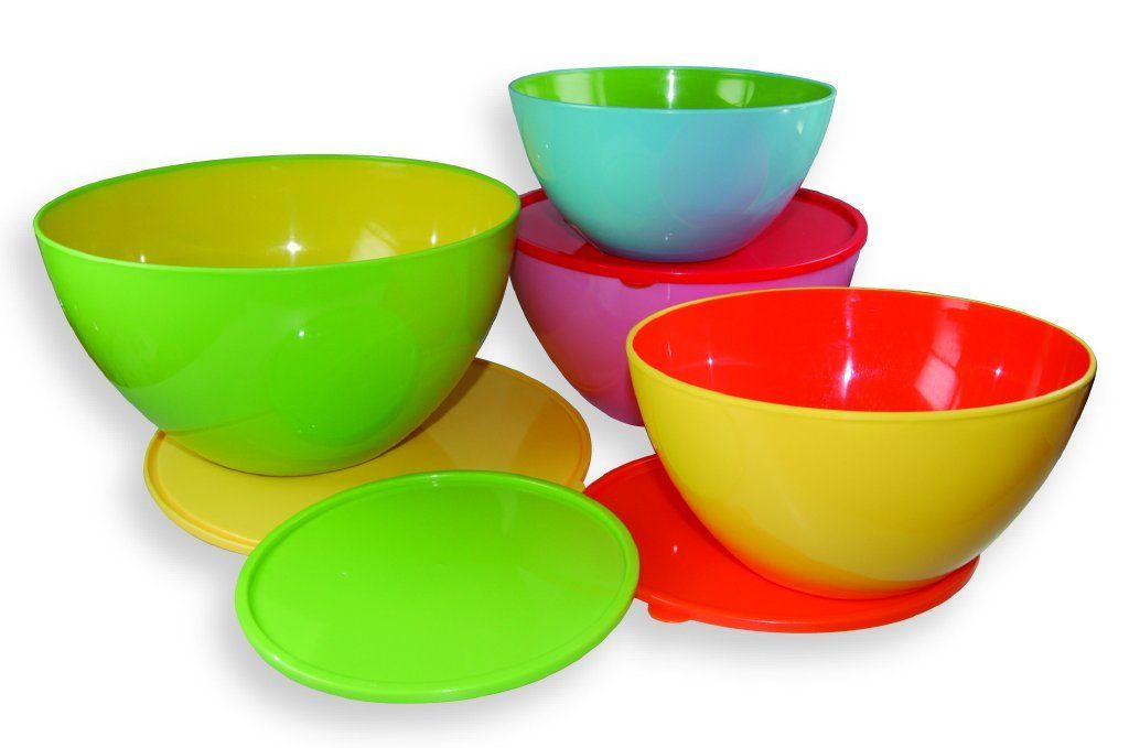 Dci two toned mixing bowls with lids set of 4 discover