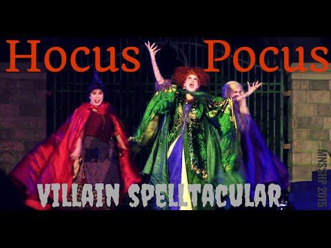 Hocus Pocus Spelltacular Video, The Sanderson sisters are back! FULL DEBUT HD video of Hocus Pocus Villain Spelltacular from Mickey's Not-So-Scary Halloween Party! #HocusPocus #MNSSHP #NotSoScary ,