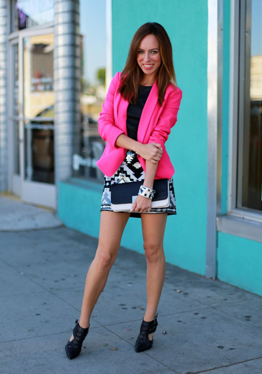 Pink Pop | Blazers, Mini skirts and Sequins