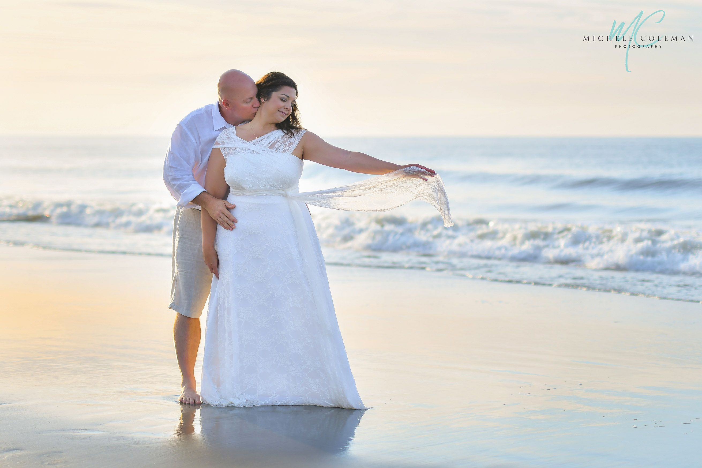 Sunrise Elopement Wedding In Myrtle Beach South Carolina