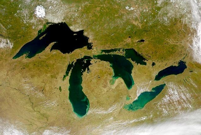 Great Lakes satellite view