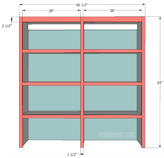 Upper Kitchen Cabinet Woodworking Plans: Upper Bookshelf - Cara Collection