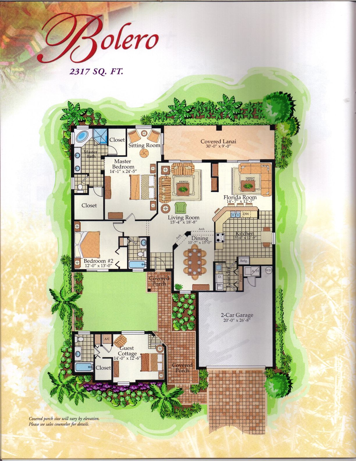The Classical Collection Bolero with Cassita Floor Plan in Solivita, Kissimmee FL