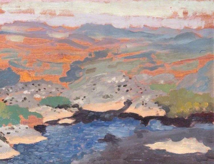 Landscape By Augustus John Post Impressionism Landscape With Images Landscape Art Artwork Painting Landscape