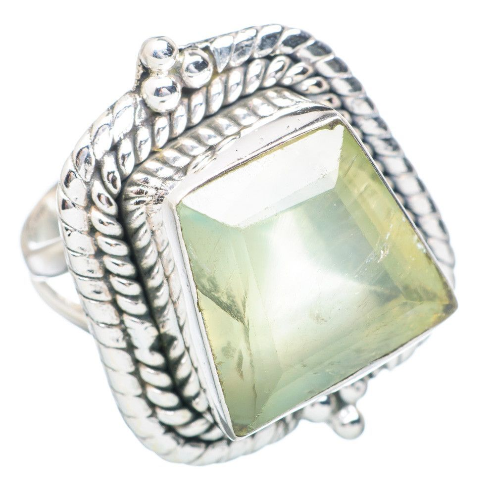 Prehnite 925 Sterling Silver Ring Size 7 RING736791