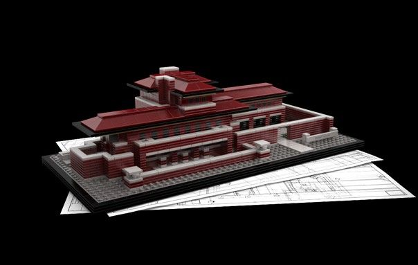 lego architecture: frank lloyd wright lego robie house | for me