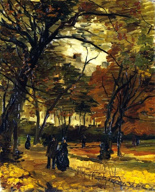 In the Bois de Boulogne, Vincent van Gogh