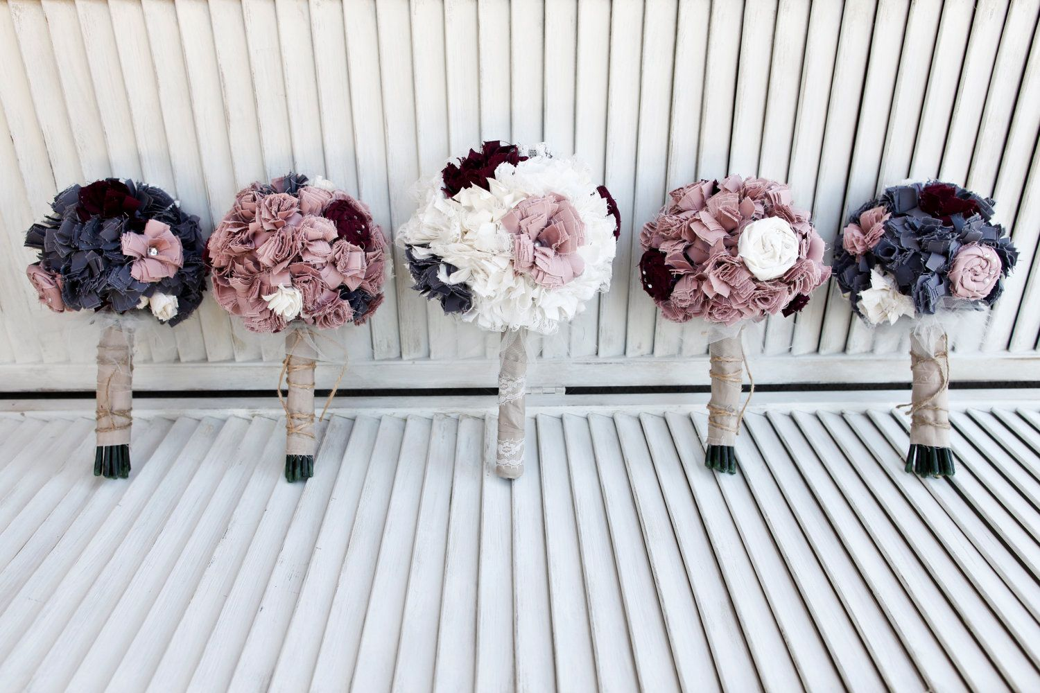 best images about wedding fabric flower bouquets on pinterest