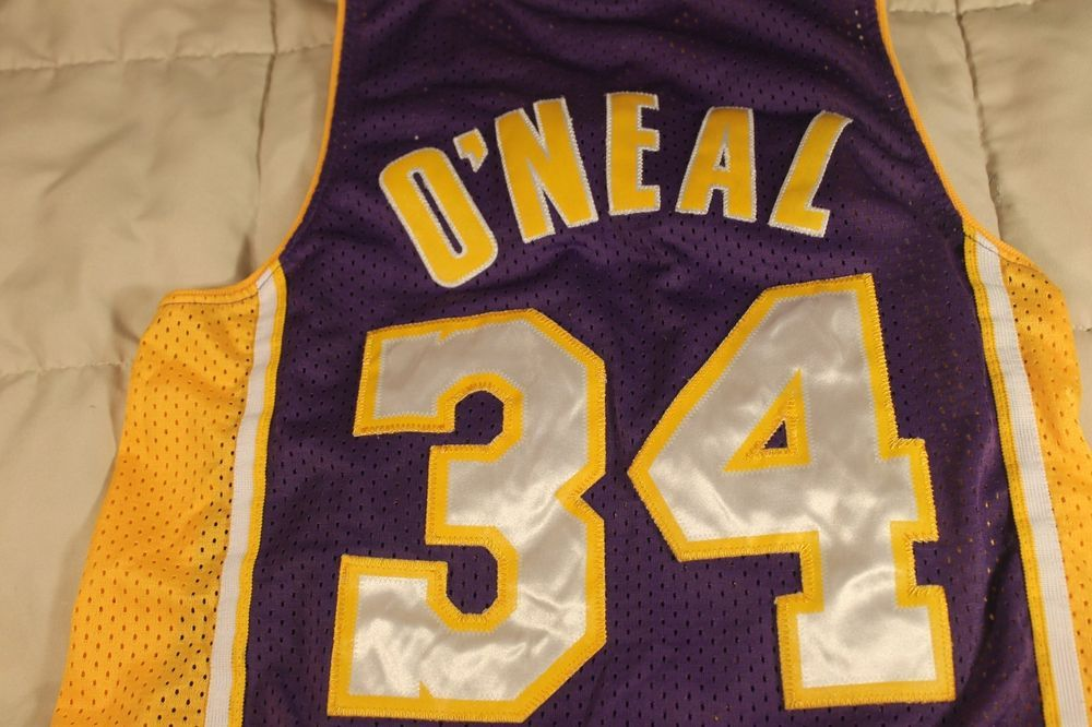 7f904f09e891 Vintage Nike Los Angeles Lakers Jersey Shaquille ONeal Shaq  34 purple Sewn   Nike  LosAngelesLakers