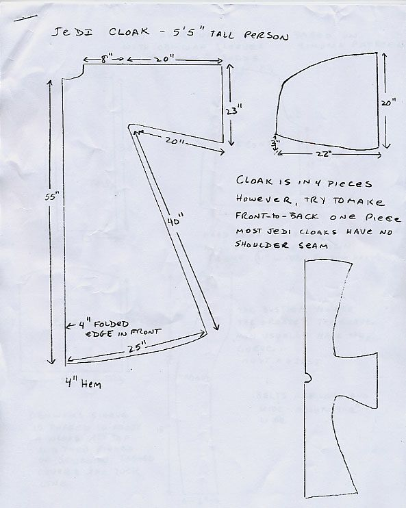 Jedi Robe Pattern : pattern, Padawan's, Guide, Cloak, Pattern,