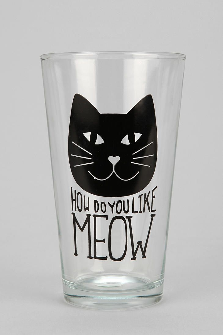 I need this. Meow Pint Glass from Urban Outfitters