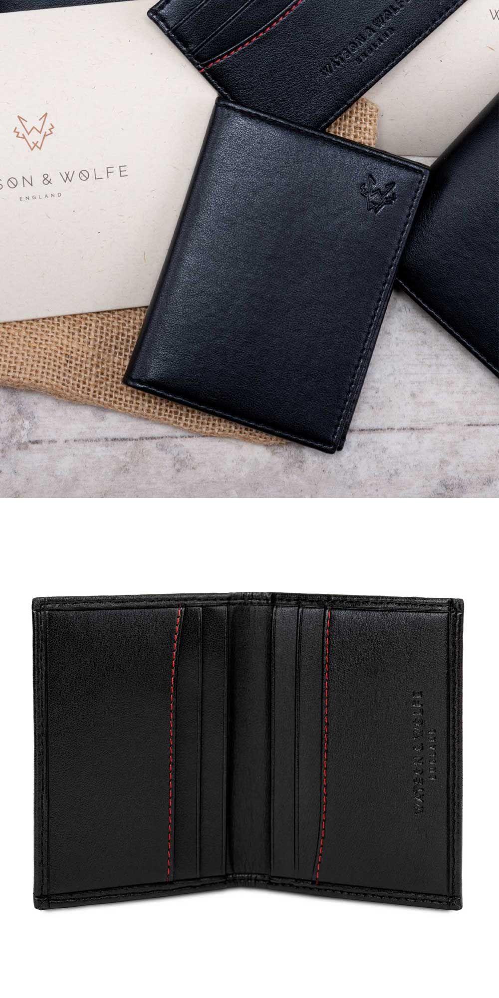 pretty nice 9ce80 49306 Folding Card Case in Black in 2019 | Watson & Wolfe | Recycle ...