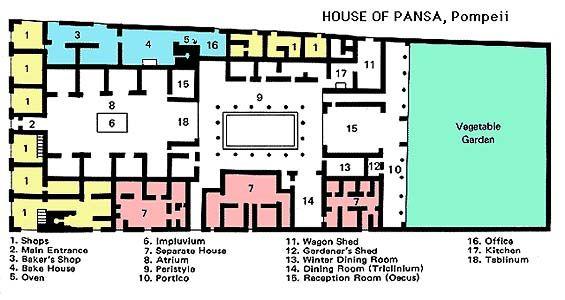 Ancient Roman Villa Floor Plans 171 Unique House Plans