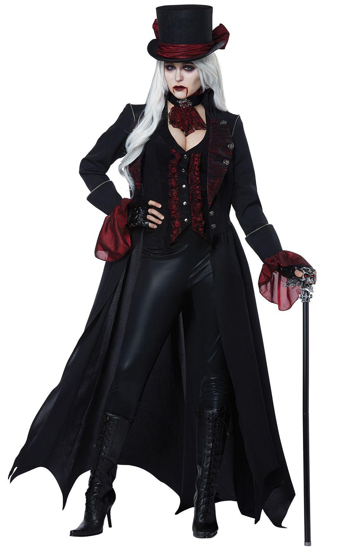 Vampire Costume Adult Victorian Vampiress Halloween Fancy Dress