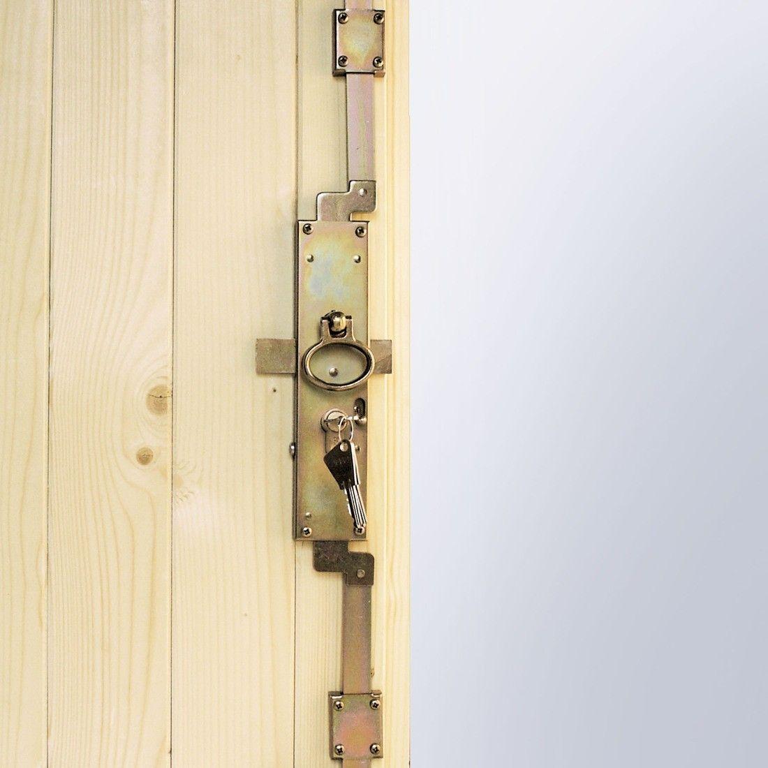 Serrure Porte De Garage 3 Points Portes Vantaux 32mm Barres Et Charpes En Bois Avec Serrure Porte Porte Garage Garage