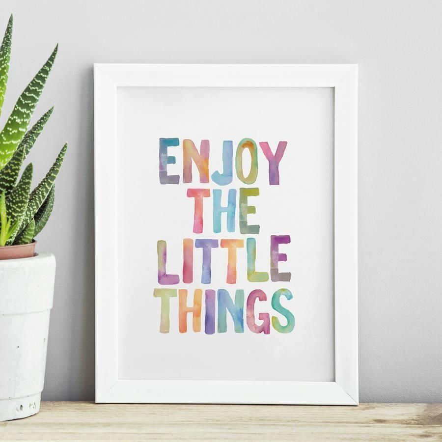 Enjoy the Little Things http://www.amazon.com/dp/B0176M37VS   motivationmonday print inspirational black white poster motivational quote inspiring gratitude word art bedroom beauty happiness success motivate inspire