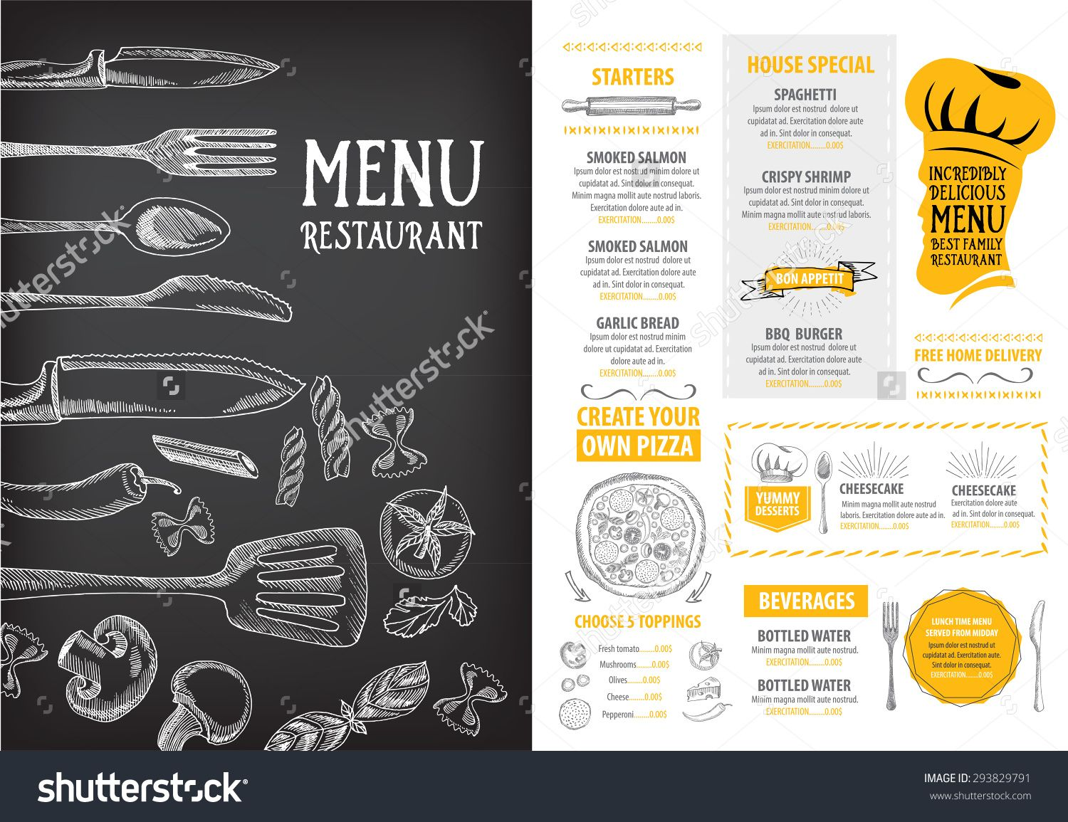 Image Result For Best Menu Designs  Lunch Menu Template Free
