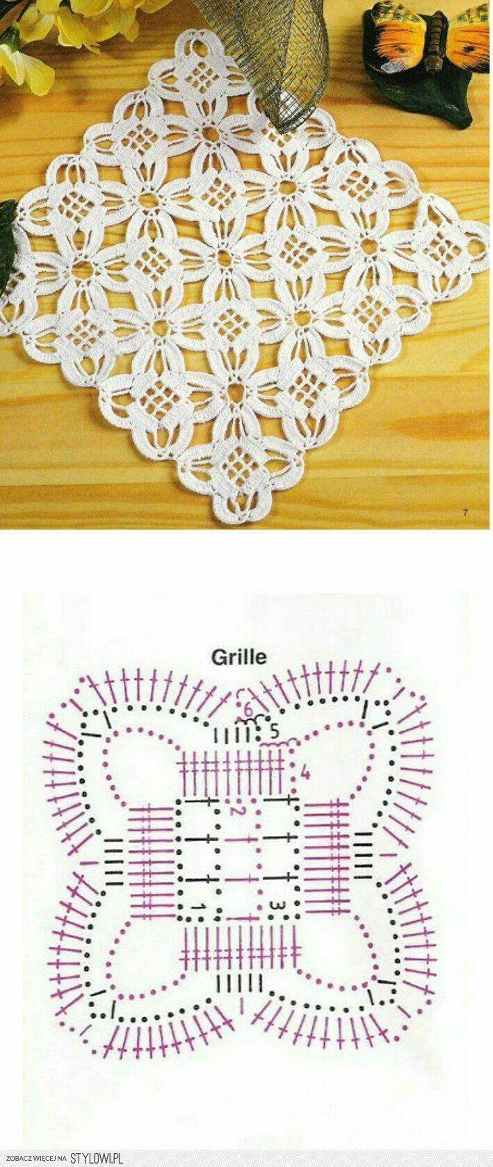 Crochê | Crochet | Pinterest | Deckchen, Häkelmuster und Häkeln