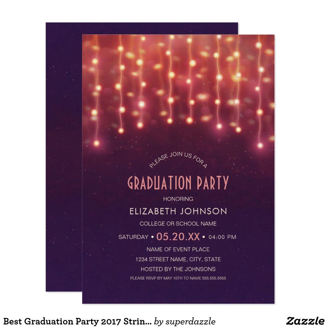 Graduation invitation announcement grad card graduation party