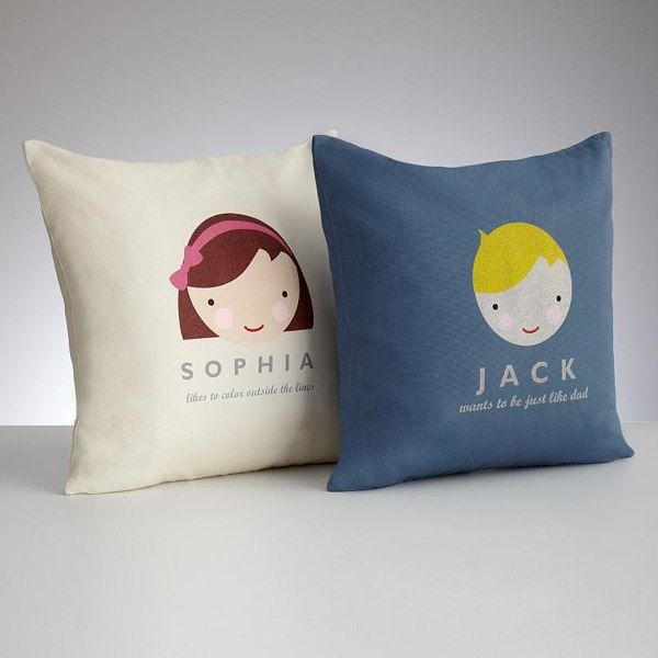 Personalized Kids Faces Pillow Cover Throw Pillows Personalised Kids Kids Pillows