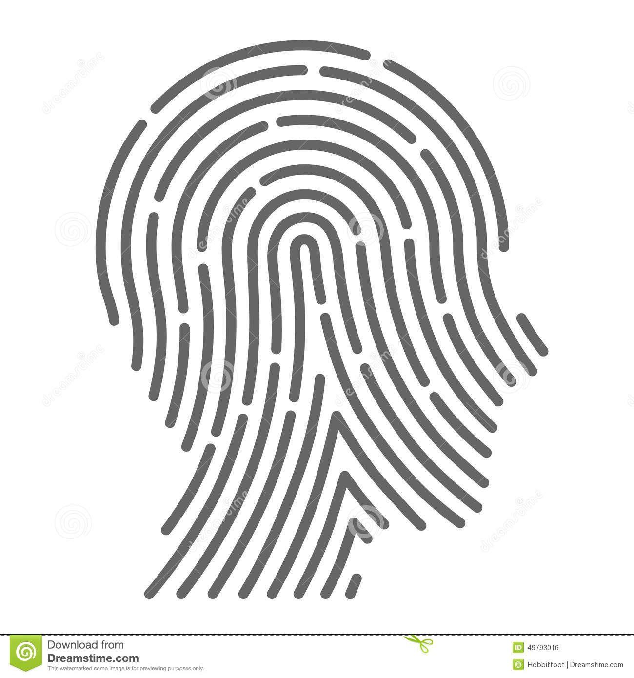 Vector Of Brain Fingerprint Stock Vector