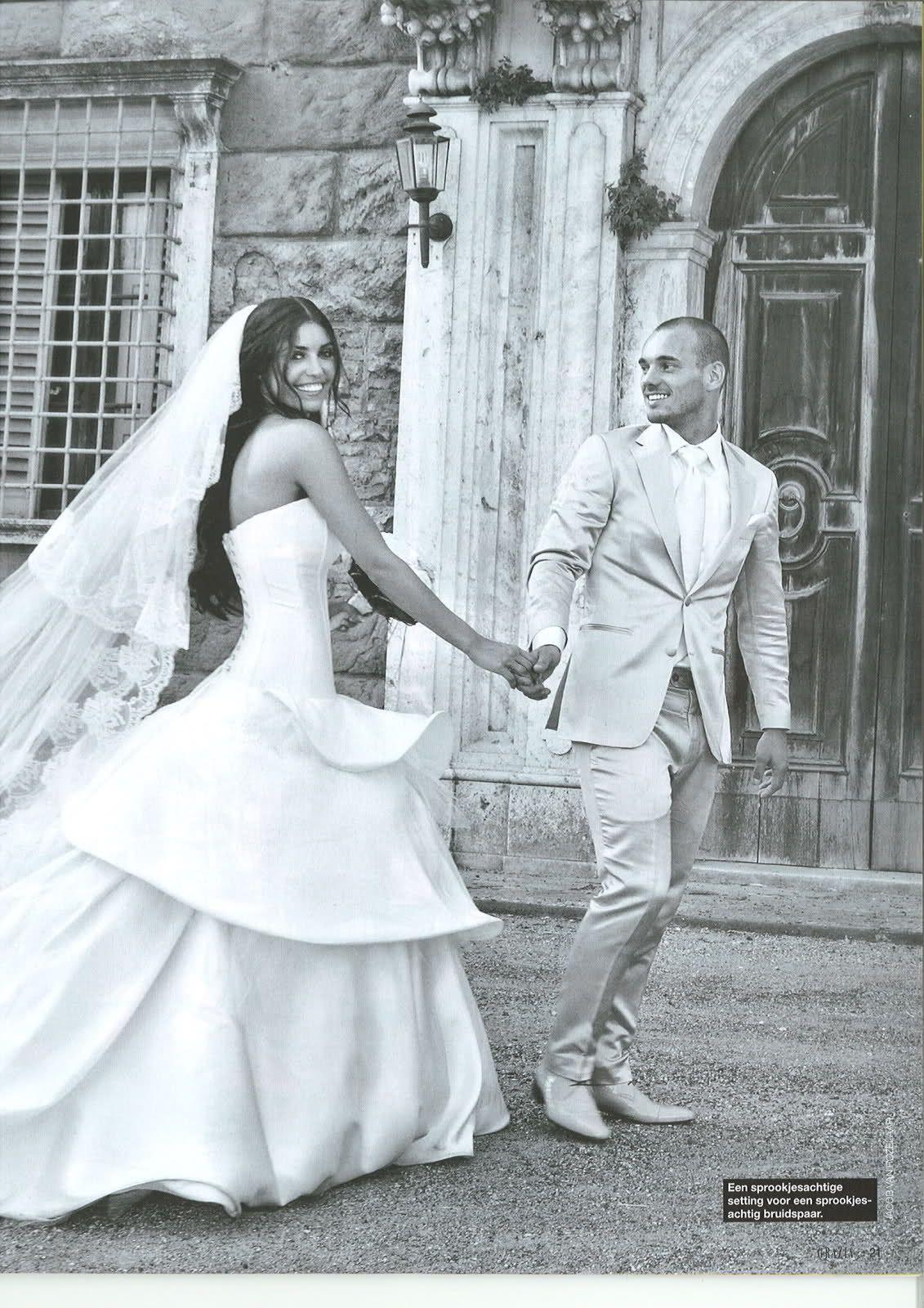 Trouwjurk Borsato.Wesley Sneijder En Yolanthe Sneijder Cabau Mary Borsato