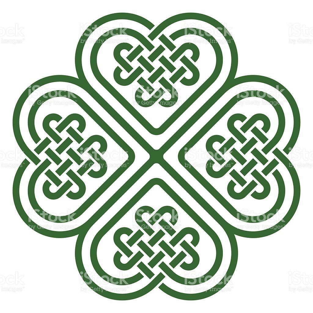 Four Leaf Clover Shaped Knot Made Of Celtic Heart Shape