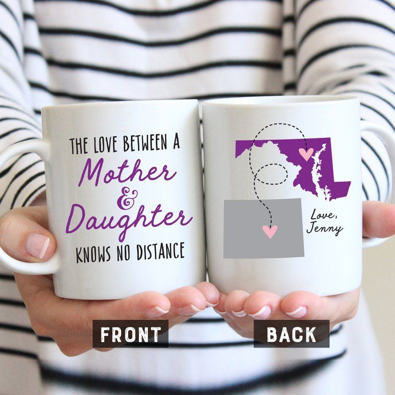 Long distance gift for mom mothers day mug long distance
