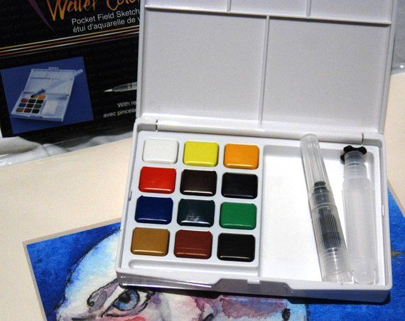 Watercolor Paints Travel Paint Kit Pocket Sized Travel Painting