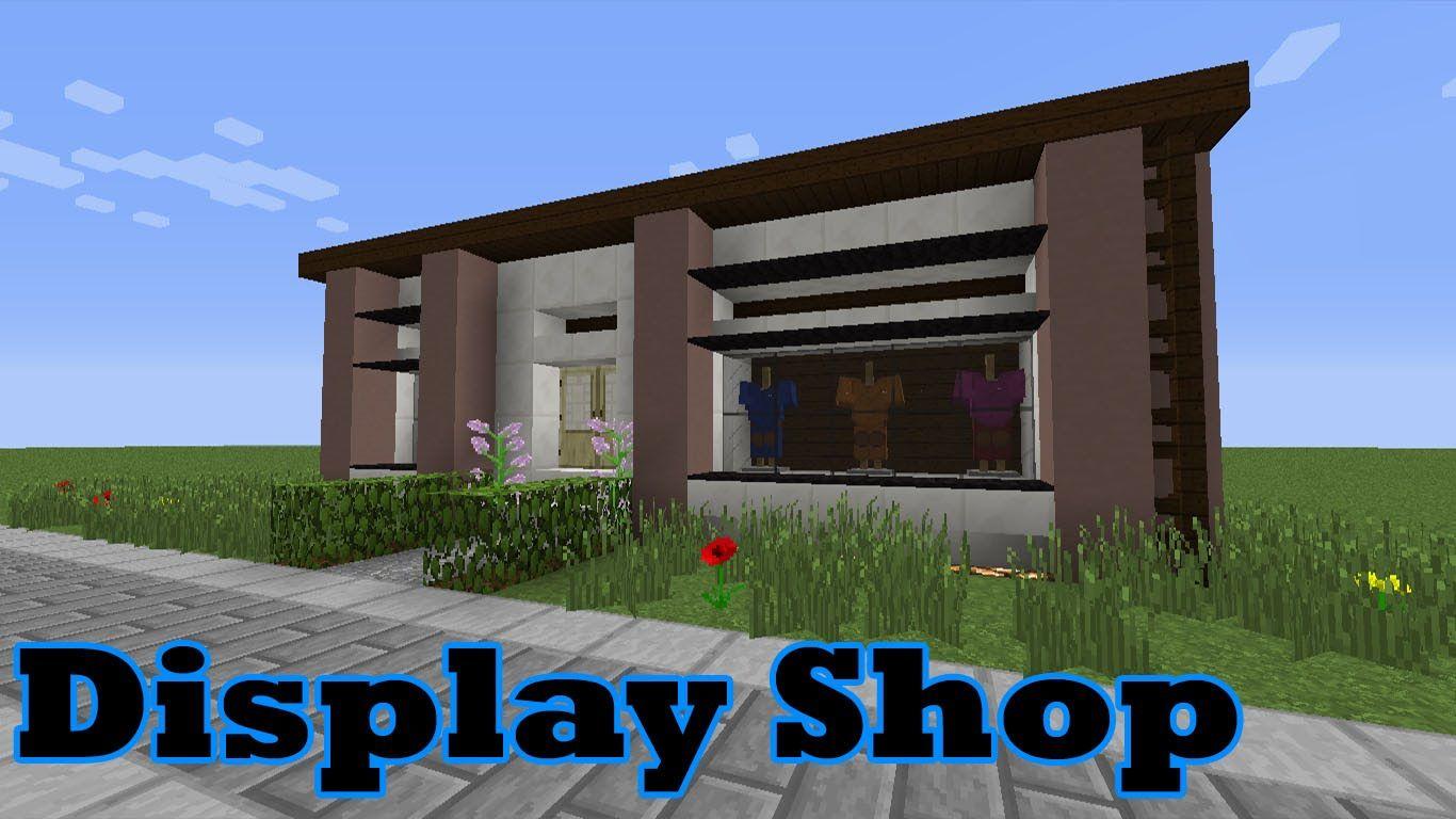 Minecraft: Display/ Clothes Shop (Tutorial)  Minecraft shops