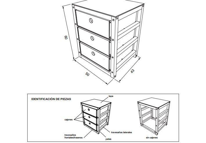 Planos para construir muebles de madera | Mesita de noche, Planos y ...