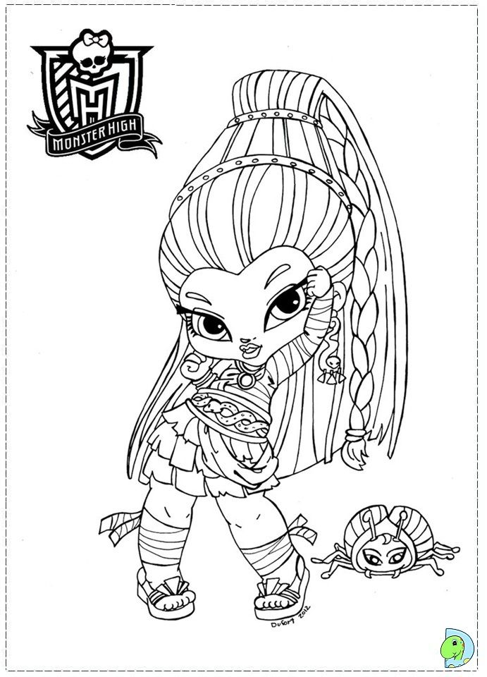 Monster High colouring page | ✐Colouring~Bratz~Monster High~Moxie ...