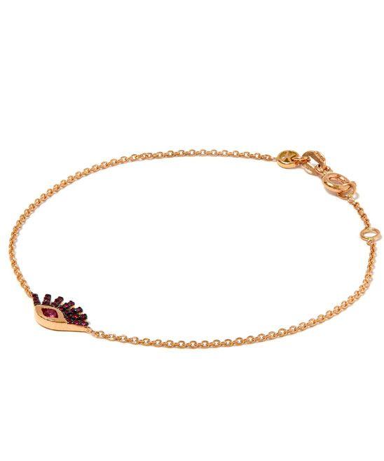 Kismet Rose Gold Evil Eye Sapphire Bracelet