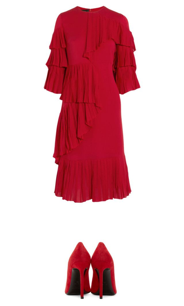 """""""Red"""" by gabriellaleoparo ❤ liked on Polyvore featuring Yves Saint Laurent and Gucci"""