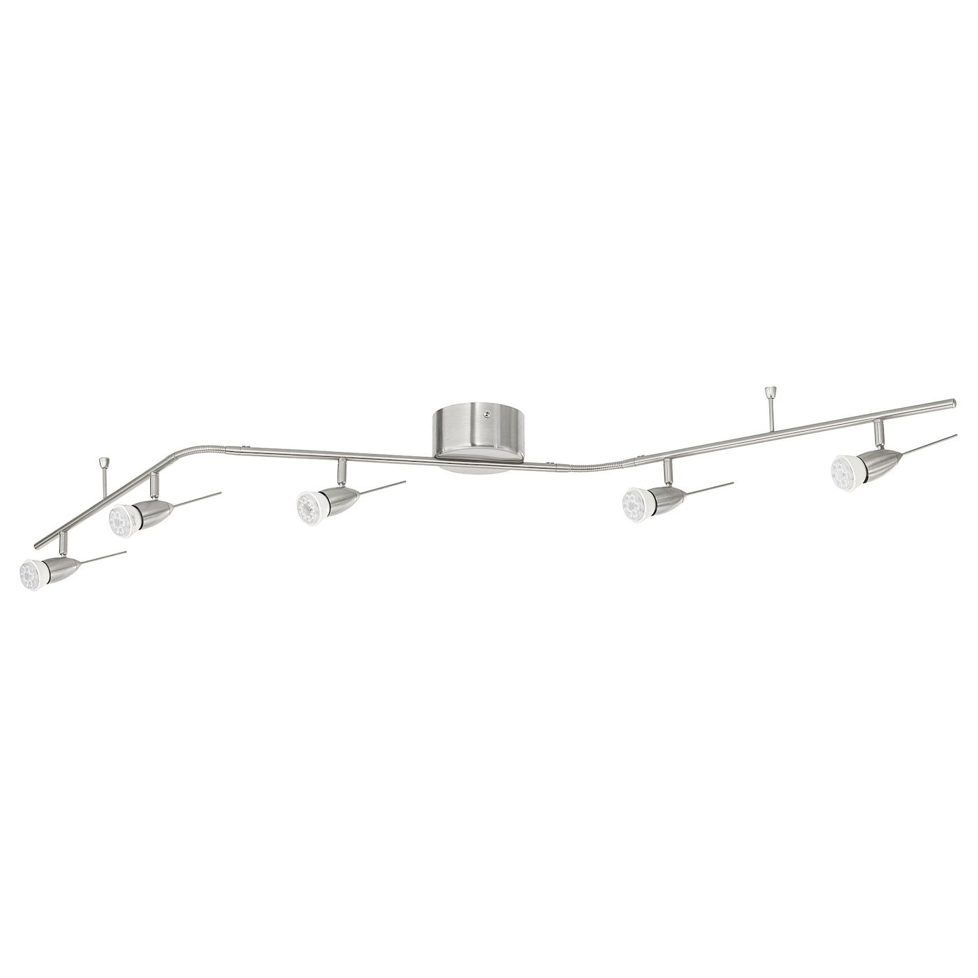 Husinge Ceiling Track 5 Spots Nickel Plated Ikea In 2021 Ceiling Lights Ceiling Pendant Lamp Shade