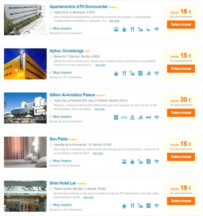 Todos Los Hoteles De Sevilla Imágenes Opiniones Situación Y Mucho Más Hoteles Sevilla Estudio Apartamento
