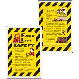 Forklift Safety Wallet Card Forklift Safety Card Wallet Forklift