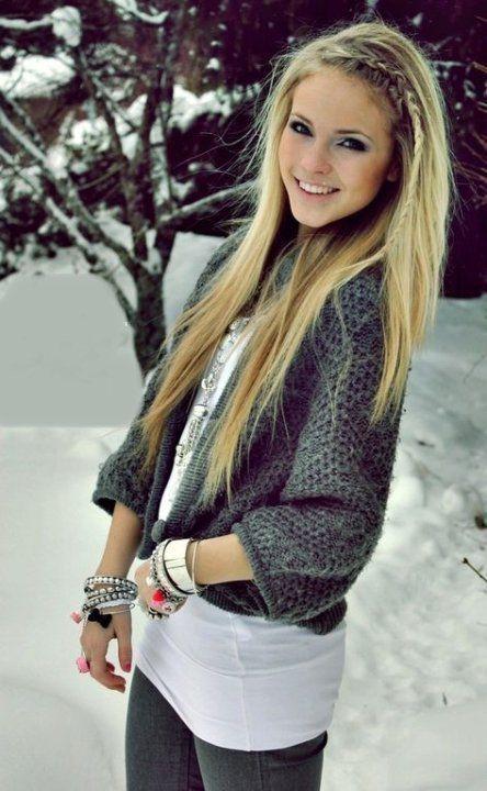Cute Hairstyles For Straight Hair With Braids Lange Blonde Haren Mode Kapsels Haarschoonheid