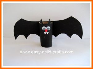 halloween bat toilet paper roll found via kid projects - Halloween Decorations For Kids To Make