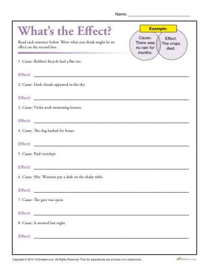 8 FREE cause & effect worksheets -- colorful & fun & easy to ...