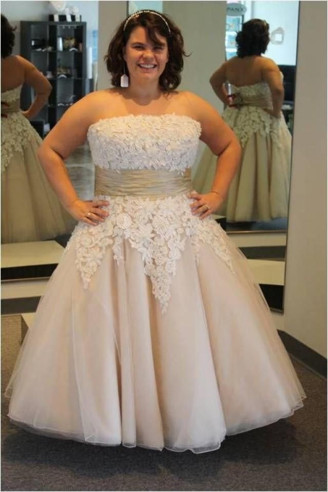 Awesome Tea length plussizeweddingdresses are an option Custom dress designs are affordable at