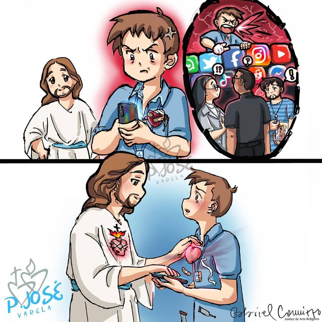 Gabriel Cannizzo En Instagram Ilustracion Para Josevarela17 Dejemos A Jesus Entrar En Los Rincones Ma En 2020 Dibujos De Jesus Cuadros De Cristo Dios Frases Jovenes