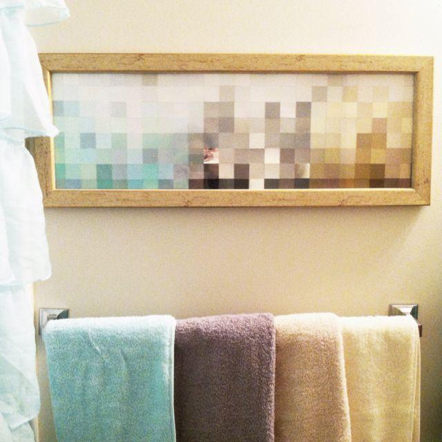 custom + wall art + paint swatch + #DIY ] Artwork in aquas, browns ...