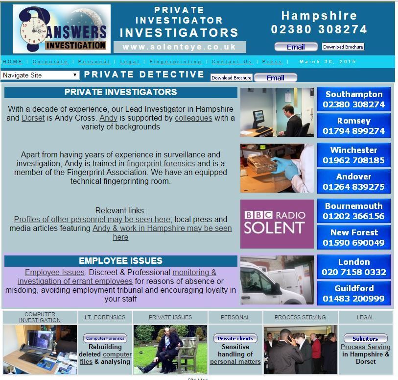 Private Detectives in Hampshire Profile of Andy Cross