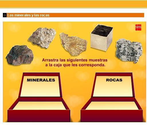 Actividad interactiva acerca de los Minerales y las rocas, incluye la escala Mohs| librosvivos.net