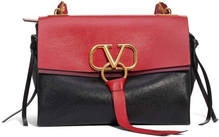 987551d6e5b6e Valentino Medium V-Ring Leather Shoulder Bag in 2019