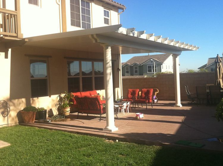 Alumawood Patio Cover With Insulated Roofing Panels, Double Header Beam,  Roman Columns, Recessed